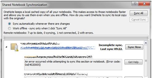 SharePoint 2010 & OneNote 2010 – synchronization issues | YASAB